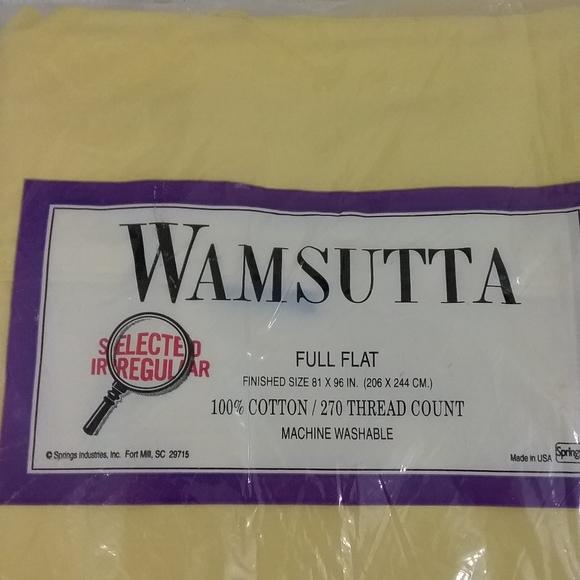 Wamsutta Other - Flat sheet yellow NIP cotton 250 thread count